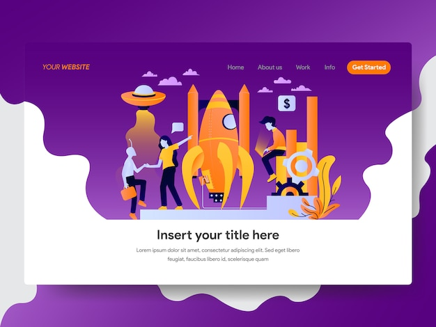 Startup illustration for web page