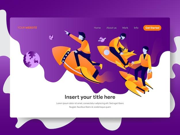 Startup illustration for web page