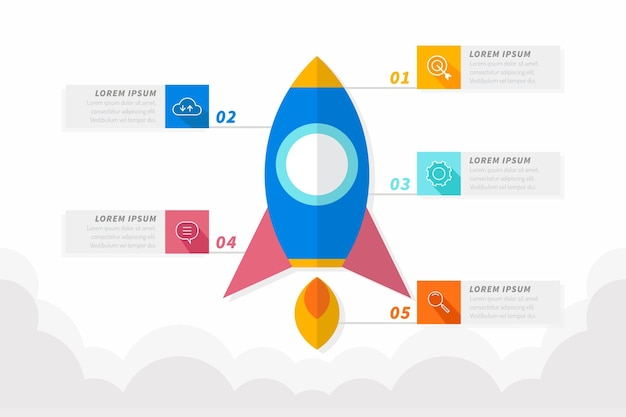 Startup infographic in flat design