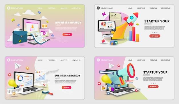 Startup landing page set