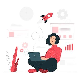 Startup life concept illustration