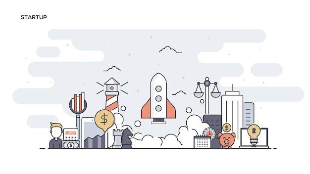 Startup  line ed banner