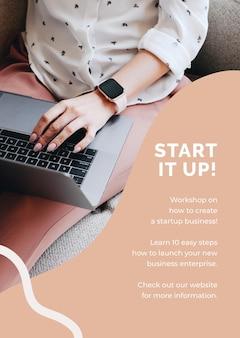 Startup poster template for entrepreneur