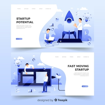Startup potential landing page