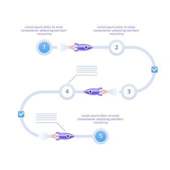 Startup project steps infographics.