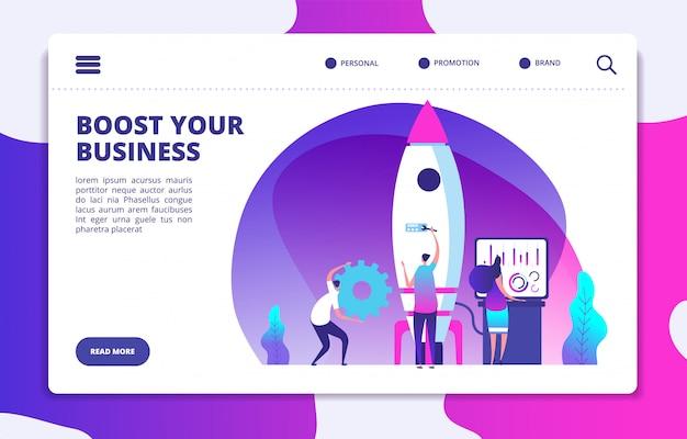 Startup website landing page
