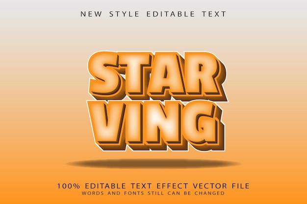 Голодный редактируемый текстовый эффект с тиснением в винтажном стиле