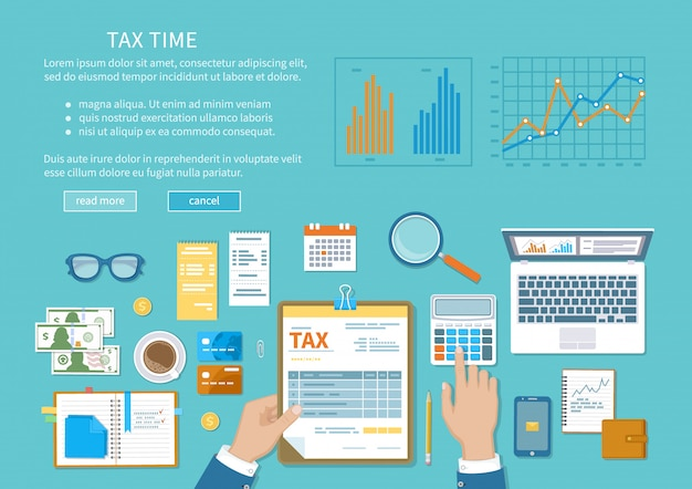 State government taxation, calculation of tax, return.