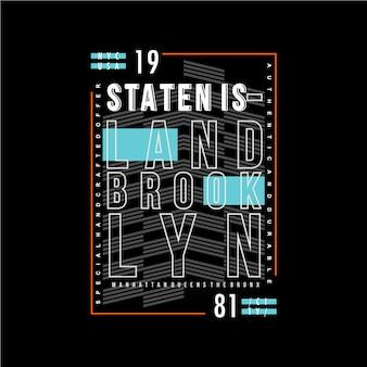 Staten island text frame background graphic design