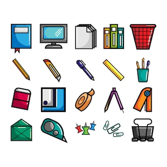 Stationary icon collection