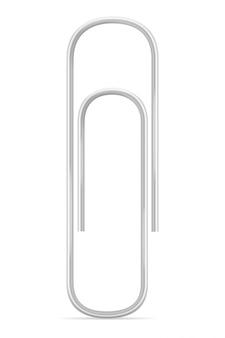 Stationary paper clip stock vector illustration