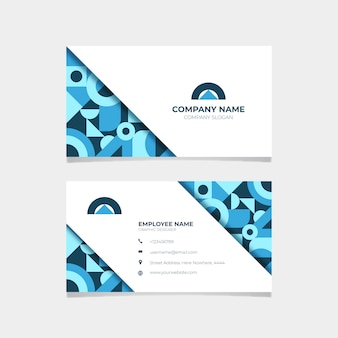 Stationery abstract business card template