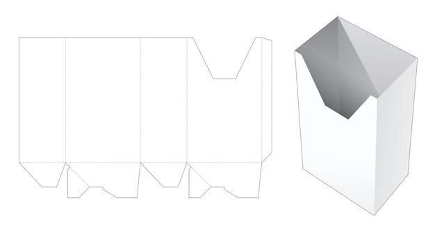 편지지 골 판지 상자 다이 컷 템플릿