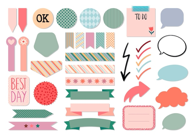 Stationery collection planners templates for scrapbook