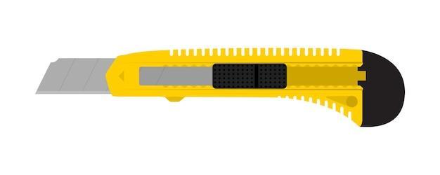 Канцелярский нож, изолированные на белом фоне