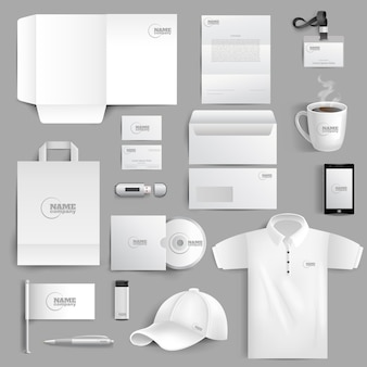 Stationery set realistic