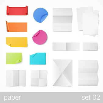 Stationery sheets of paper