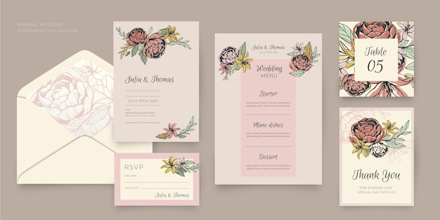 Stationery template collection