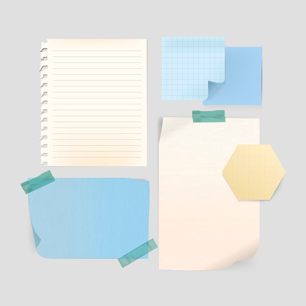 Stationery template set