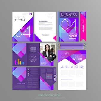 Stationery violet for your business