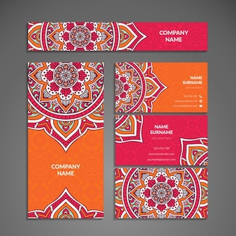 Stationery with mandalas