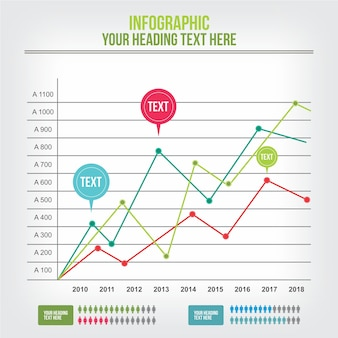 Statistic infographics template