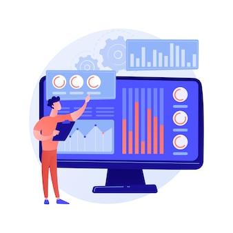 통계 데이터 조사, 회사 성과 지표, 투자 수익. 백분율 비율, 지수 변동, 상당한 변화.