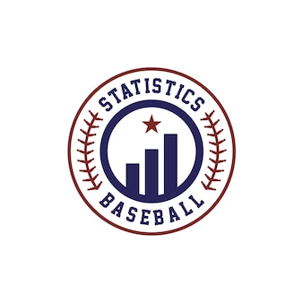 Statistics baseball team managerのロゴデザイン