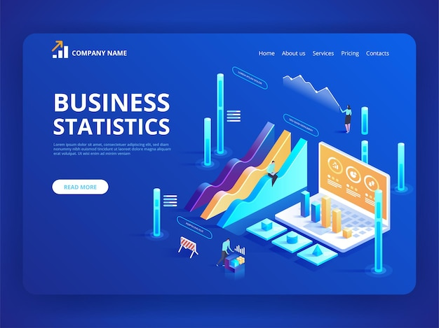 Statistics and business statement financial administration concept