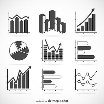 Statistics chart set
