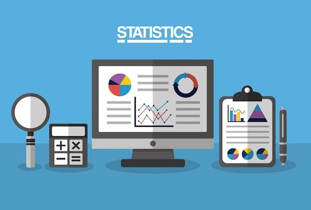 Статистика данных бизнес иллюстрация