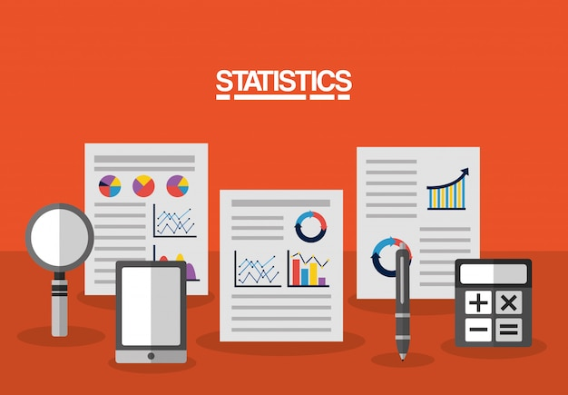 Statistics data business illustration