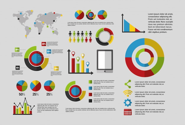 Statistics data business infographic template