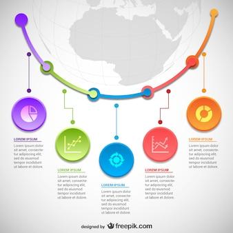 Statistics infographics template