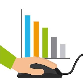 Statistics online information icon