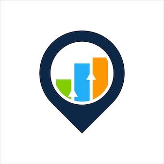 Stats pin logo design template