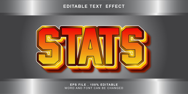 Stats text effect editable