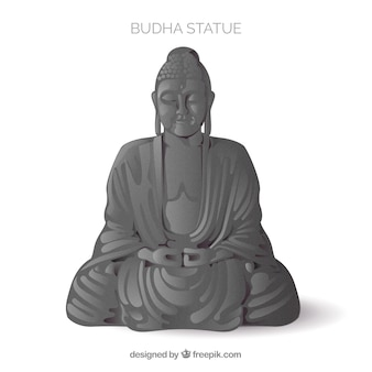 Statue of budha with realistic style