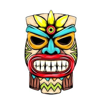小さなティキ島の像とマスクのインスピレーション