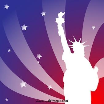 Libertà statua sfondo vettoriale