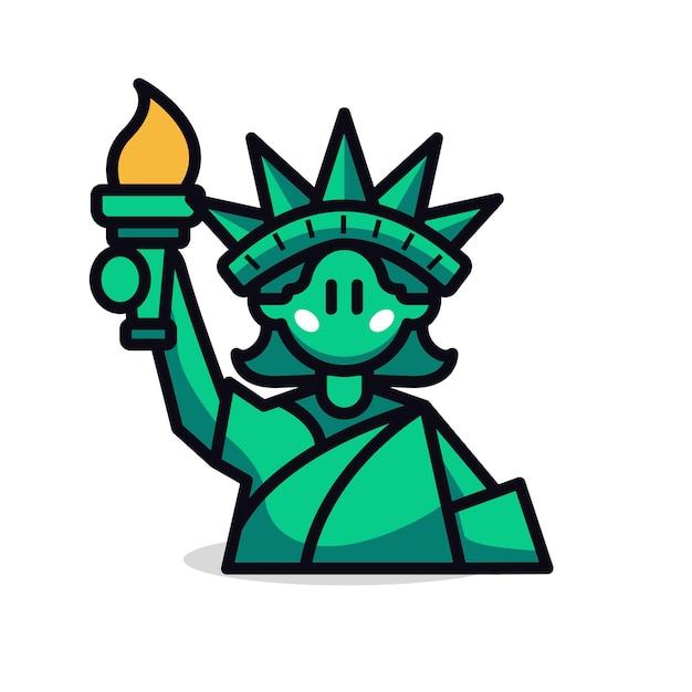 Statue of liberty cartoon vector illustration