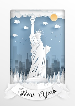 Statue of liberty, new york. america landmarks.