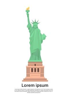Statue of liberty united states symbol vector illustration