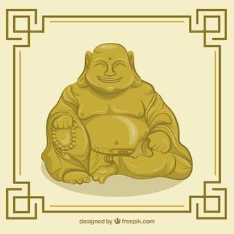フラットスタイルの仏陀の背景の像