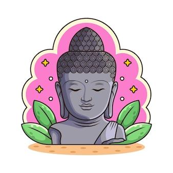 Статуя будды мультфильм.
