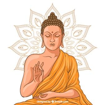 Статуя будды в золотом стиле