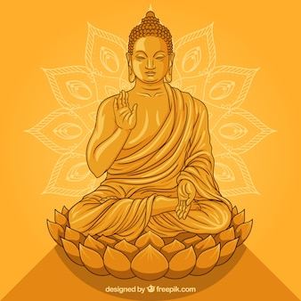 Statue of buddha in golden style