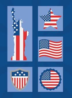 자유의 여신상 및 미국 레이블