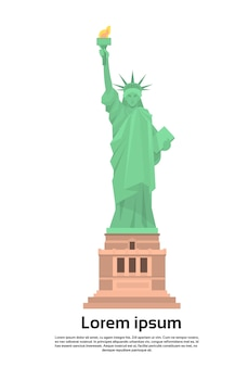Статуя свободы соединенные штаты символ векторной иллюстрации