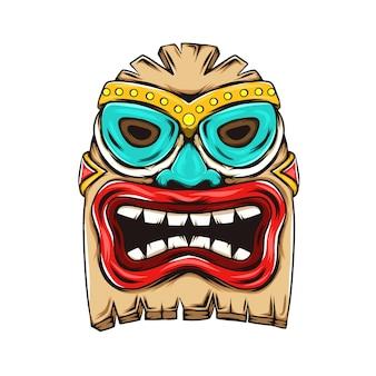 「パーティーのインスピレーションの特徴のためのティキ島の像